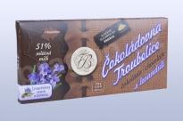 Čokoláda mléčná 51% s levandulí 45 g