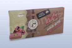 Čokoláda bílá 40%  s guaranou, 45 g