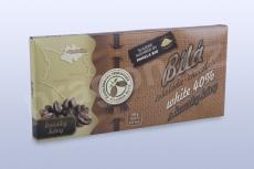 Čokoláda bílá 40% s kávovými zrny, 45 g