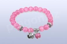 Náramek - nádherná - růžový opál