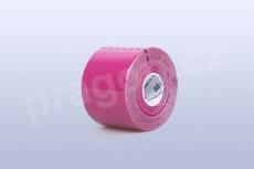 Kineziologický tejp BB Tape 5 cm, barva růžová